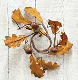 Acorn & Oak Leaves Mini Candle Ring