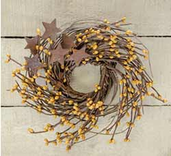 Old Gold Twig & Berry Wreath