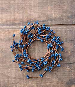 Blue Pip Berry 2.25 inch Candle Ring