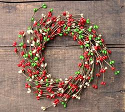 Holly Jolly Pip Berry 4.25 inch Candle Ring