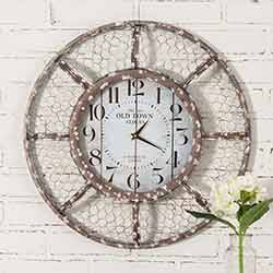 Farmhouse Chicken Wire Wall Clock