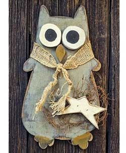 Primitive Owl Wall Decor