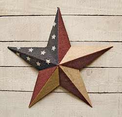 Burlap Patriotic Barn Star - 18 inch