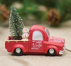 Warm Winter Wishes Red Truck
