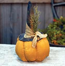Grungy Pumpkin with Witch Hat