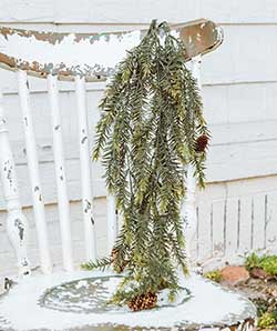 Draping Pine Bush with Cones (34 inches)