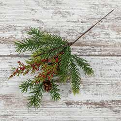 Angel Pine & White Spruce Prickly Pine Pick