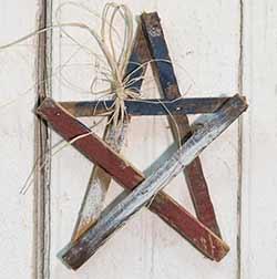Patriotic Wood Lath Star - 10 inch