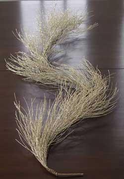 Silver/Tiffany Glittered Pine Garland