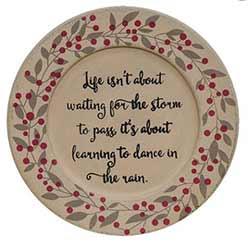 Dance in the Rain Berry Plate