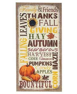 Burlap Fall Wall Decor