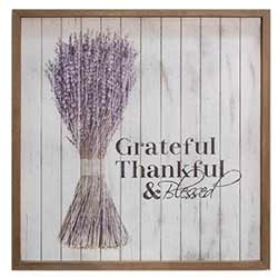 Thankful Shiplap Sign with Lavender