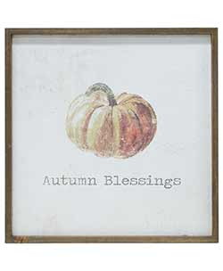 Autumn Blessings Framed Watercolor Wall Art