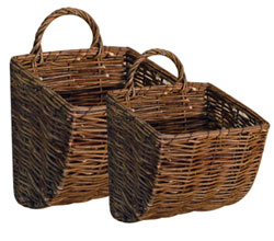 Willow Wall Basket (Set of 2)