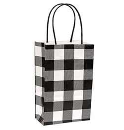 Small Buffalo Check Black Gift Bag
