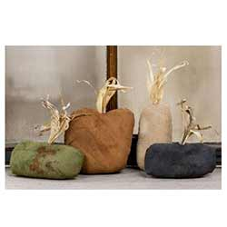 Primitive Stuffed Pumpkins (Set of 4)