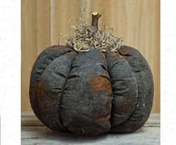 Grungy Primitive Black Pumpkin