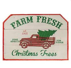 Farm Fresh Trees Sign