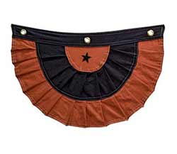 Black and Orange Bunting with Star
