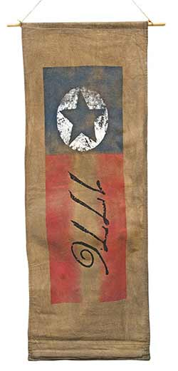 Colonial 1776 Aged Fabric Banner