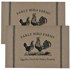Early Bird Farms Placemats (Set of 2)