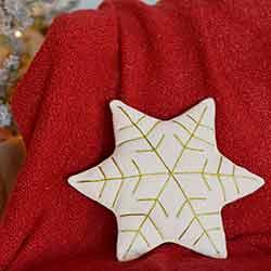 HO HO Holiday Snowflake Pillow (14x12)
