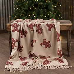 Happy Gingerbread Woven Throw 60x50