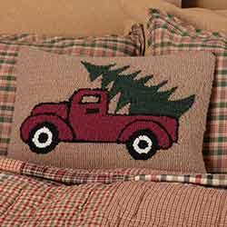 Hooked Truck Pillow (14x18)
