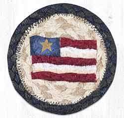 Primitive Star Flag Braided Coaster