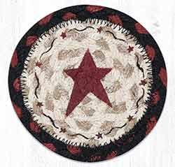 Primitive Star Burgundy Braided Coaster