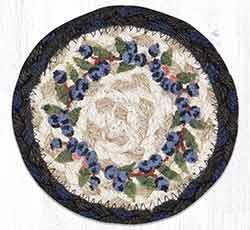 Blueberry Vine Braided Coaster
