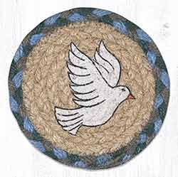 Peace Dove Braided Coaster