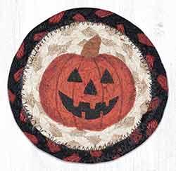 Jack-O-Lantern Braided Coaster