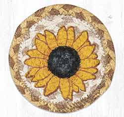 Sunflower Braided Coaster