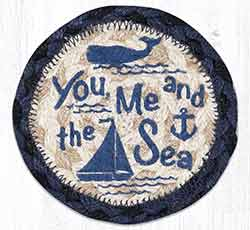 You, Me and the Sea Braided Coaster