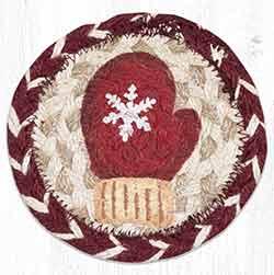 Red Mitten Braided Coaster