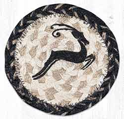 Leaping Deer Braided Coaster