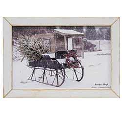 Grandpa's Sleigh Framed Print - 19 x 13.5 inch