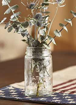 Simple Mason Style Glass Jar