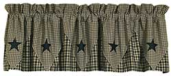 Vintage Star Black Pointed Valance