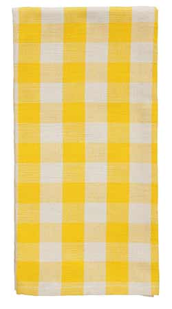 Picnic Yellow Check Dishtowel