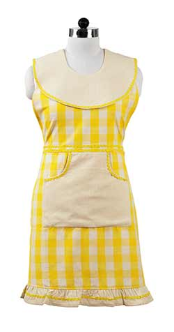 Picnic Yellow Check Apron