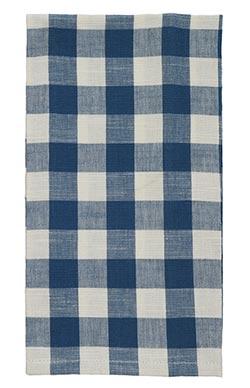 Picnic Blue Check Dishtowel