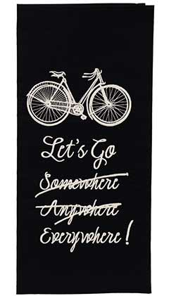 Let's Go Everywhere Dishtowel