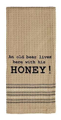 An Old Bear Dishtowel