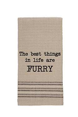 The Best Things in Life are Furry Dishtowel
