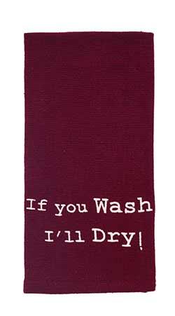 You Wash I'll Dry Dishtowel