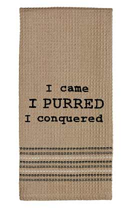 I Purred Dishtowel