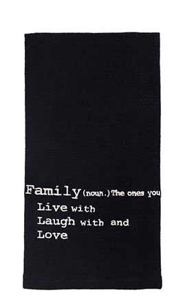 Live Love Laugh Family Dishtowel