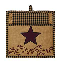 Primitive Berry Pot Holder Set